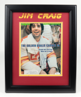 Jim Craig Signed Sports Illustrated 13.5x16.5 Custom Framed Magazine Display (JSA COA) (See Description) at PristineAuction.com