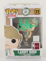 Larry Bird Signed Celtics #77 Funko Pop! Vinyl Figure (Beckett COA & Bird Hologram) at PristineAuction.com