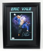 "Eric Vale Signed ""Dragon Ball"" 13.5x16.5 Custom Framed Photo Display Inscribed ""Trunks"" (JSA COA) (See Description) at PristineAuction.com"