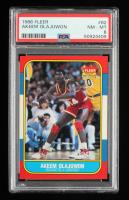 Akeem Olajuwon 1986-87 Fleer #82 RC (PSA 8) at PristineAuction.com