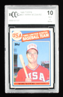 Mark McGwire 1985 Topps Olympic #401 RC (BCCG 10) at PristineAuction.com