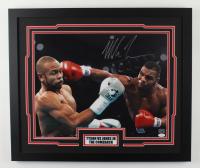 "Mike Tyson Signed ""Tyson VS Jones Jr"" 22x26 Custom Framed Photo Display (JSA COA & Tyson Hologram) (See Description) at PristineAuction.com"