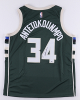 Giannis Antetokounmpo Signed Bucks Jersey (Beckett COA) at PristineAuction.com