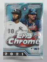 2021 Topps Chrome Baseball Blaster Box with (8) Packs (See Description) at PristineAuction.com