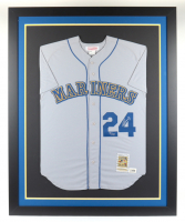 Ken Griffey Jr. Signed LE Mariners 32x36 Custom Framed Jersey Display (UDA COA) at PristineAuction.com