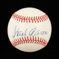 Hank Aaron Signed ONL Baseball (JSA ALOA) (See Description) at PristineAuction.com