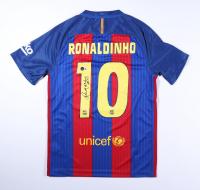 "Ronaldinho Signed FC Barcelona Jersey Inscribed ""R10"" (Beckett Hologram) at PristineAuction.com"