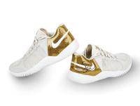 Serena Williams Signed LE Nike Court Flare 2 Gold Tennis Shoes (UDA COA) at PristineAuction.com