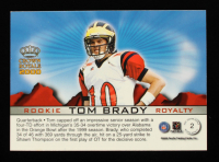 Tom Brady 2000 Crown Royale Rookie Royalty #2 RC at PristineAuction.com