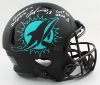 """Dan Marino Signed Dolphins Full-Size Authentic On-Field Eclipse Alternate Speed Helmet Inscribed """"Last to Wear 13"""" & """"Forever A Dolphin"""" (JSA COA) at PristineAuction.com"""