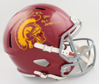 """Robert Woods Signed USC Trojans Full-Size Speed Helmet Inscribed """"2011 All American"""" (PSA COA) at PristineAuction.com"""