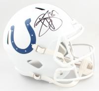 Reggie Wayne Signed Colts Full-Size Matte White Speed Helmet (PSA COA) at PristineAuction.com