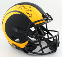 """Robert Woods Signed Rams Full-Size Eclipse Alternate Speed Helmet Inscribed """"Horns Up!"""" (PSA COA) at PristineAuction.com"""