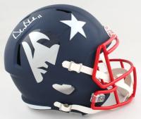 Drew Bledsoe Signed Patriots Full-Size AMP Alternate Speed Helmet (PSA COA) at PristineAuction.com