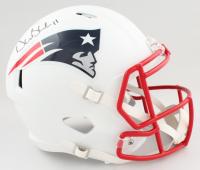Drew Bledsoe Signed Patriots Full-Size Matte White Speed Helmet (PSA COA) at PristineAuction.com