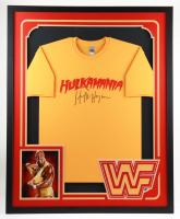 """Hulk Hogan Signed 34x42 Custom Framed """"Hulkmania"""" T-Shirt (JSA COA) at PristineAuction.com"""