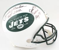 """Curtis Martin Signed Jets Full-Size Authentic On-Field Helmet Inscribed """"HOF 2012"""", """"Jets #28 Retired"""" & """"ROY 95"""" (PSA COA) at PristineAuction.com"""