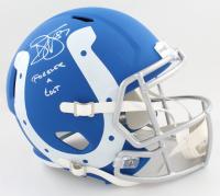 "Reggie Wayne Signed Colts Full-Size AMP Alternate Speed Helmet Inscribed ""Forever A Colt"" (PSA COA) at PristineAuction.com"