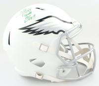 "Brian Dawkins Signed Eagles Full-Size Matte White Speed Helmet Inscribed ""Eagle For Life!!"" (JSA COA) at PristineAuction.com"
