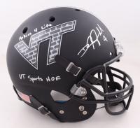 "DeAngelo Hall Signed Virginia Tech Hokies Full-Size Helmet Inscribed ""Hokies 4 Life"" & ""VT Sports HOF"" (Beckett COA) at PristineAuction.com"