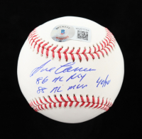 "Jose Canseco Signed OML Baseball Inscribed "" 86 AL ROY"" ""88 AL MVP"" & ""40/40"" (Beckett Hologram) at PristineAuction.com"