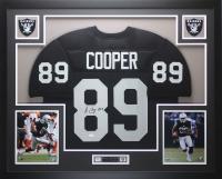Amari Cooper Signed 35x43 Custom Framed Jersey Display (JSA COA) at PristineAuction.com