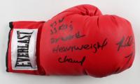 "Riddick Bowe Signed Everlast Boxing Glove Inscribed ""43 W"", ""33 KO's"", & ""2x World Heavyweight Champ"" (JSA COA) at PristineAuction.com"