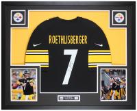 Ben Roethlisberger Signed 35x43 Custom Framed Jersey Display (Fanatics Hologram) at PristineAuction.com