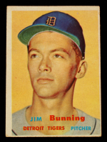 Jim Bunning 1957 Topps #338 RC at PristineAuction.com