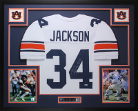 Bo Jackson Signed 35x43 Custom Framed Jersey Display (Beckett COA) at PristineAuction.com