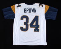 """Malcolm Brown Signed Jersey Inscribed """"Horns Up"""" (PSA COA) at PristineAuction.com"""