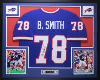 Bruce Smith Signed 35x43 Custom Framed Jersey Display (JSA COA) at PristineAuction.com