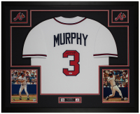 Dale Murphy Signed 35x43 Custom Framed Jersey Display (PSA COA) at PristineAuction.com