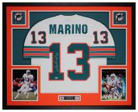 Dan Marino Signed 35x43 Custom Framed Jersey Display (Fanatics Hologram) at PristineAuction.com