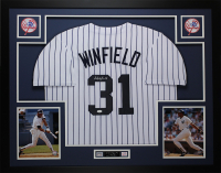Dave Winfield Signed 35x43 Custom Framed Jersey Display (JSA COA) at PristineAuction.com