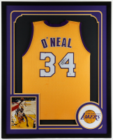 Shaquille O'Neal Signed 34x42 Custom Framed Jersey Display (Beckett COA) at PristineAuction.com