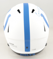 "Carson Wentz Signed Colts Full-Size Lunar Eclipse Alternate Speed Helmet Inscribed ""AO1"" (Fanatics Hologram) (See Description) at PristineAuction.com"