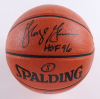 "George Gervin Signed NBA Game Ball Series Basketball Inscribed ""HOF 96"" (Schwartz Sports COA) (See Description) at PristineAuction.com"