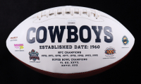 """Danny White Signed Cowboys Logo Football Inscribed """"SB XII Champs"""" (JSA COA) (See Description) at PristineAuction.com"""