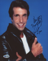 """Henry Winkler Signed """"Happy Days"""" 8x10 Photo Inscribed """"Healthy Thoughts"""" &  """"10/20"""" (Beckett COA) at PristineAuction.com"""