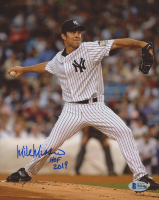 """Mike Mussina Signed Yankees 8x10 Photo Inscribed """"HOF 2019"""" (Beckett COA) at PristineAuction.com"""