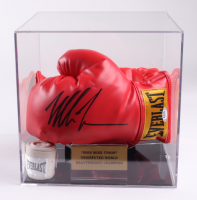 """""""Iron"""" Mike Tyson Signed Everlast Boxing Glove with Display Case (PSA COA) (See Description) at PristineAuction.com"""