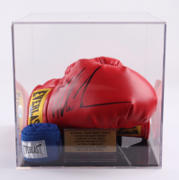 """""""Iron"""" Mike Tyson Signed Everlast Boxing Glove with Display Case (PSA COA) at PristineAuction.com"""
