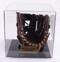 """Nolan Ryan Signed Rawlings Baseball Glove Inscribed """"The Ryan Express"""" with Display Case (PSA COA) (See Description) at PristineAuction.com"""