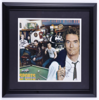 """""""Huey Lewis and the News"""" 19x19 Custom Framed Photo Band-Signed by (4) with Huey Lewis, Johnny Colla, Sean Hopper, & Bill Gibson (JSA COA) at PristineAuction.com"""