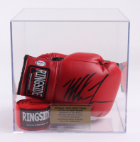 Mike Tyson Signed Pair of Boxing Gloves with Display Case & Wrist Tape (PSA COA) at PristineAuction.com