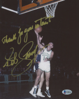"""Bob Cousy Signed Celtics 8x10 Photo Inscribed """"Thanks For Your Interest"""" (Beckett COA) at PristineAuction.com"""