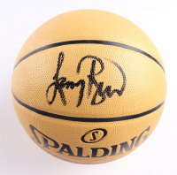Larry Bird Signed Spalding The Champions Logo Basketball (PSA COA) at PristineAuction.com