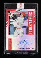 Shohei Ohtani 2021 Donruss Short and Sweet Signatures #2 EXCH at PristineAuction.com