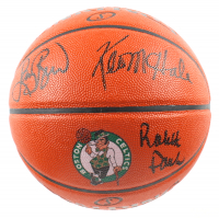 Larry Bird, Robert Parish & Kevin McHale Signed Celtics Logo NBA Game Ball Series Basketball (JSA ALOA, Schwartz Sports COA, & Bird Hologram) at PristineAuction.com